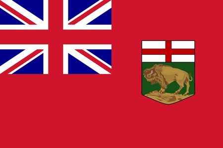 Simple flag province of Canada. Manitoba