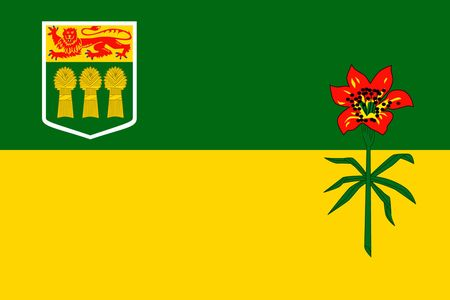 Simple flag province of Canada. Saskatchewan 向量圖像