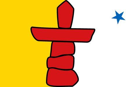 Simple flag province of Canada. Nunavut