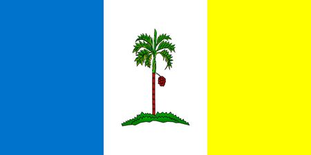 Simple flag state of Malaysia. Penang