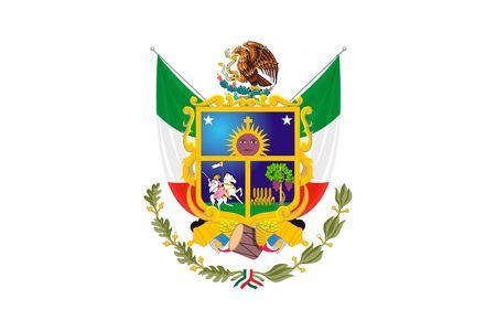 Simple flag state of Mexico, Queretaro de Arteaga Vettoriali