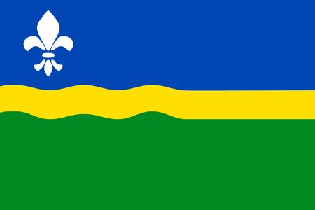 Simple flag of Flevoland is a state of Netherlands Çizim