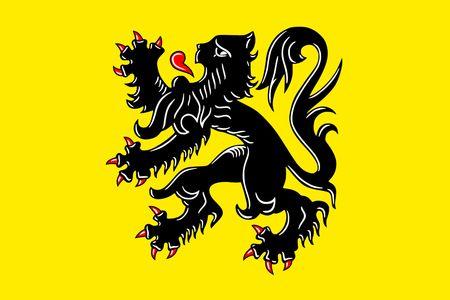 Simple flag of Flanders is a state of Belgium