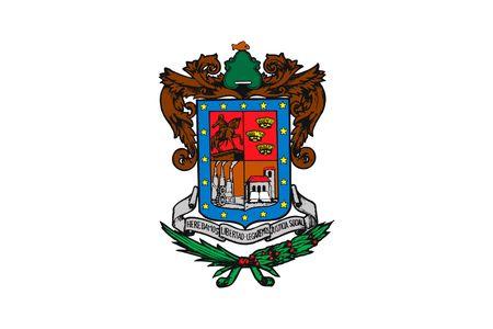 Simple flag state of Mexico, Michoacan de Ocampo