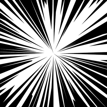 Vector background sun rays with white and black color.