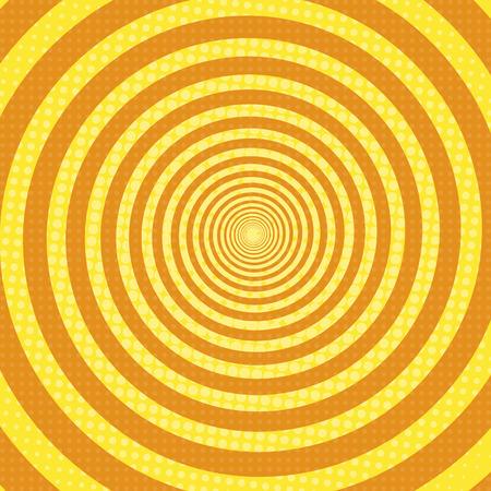 spiral rays pop art retro background vector illustration
