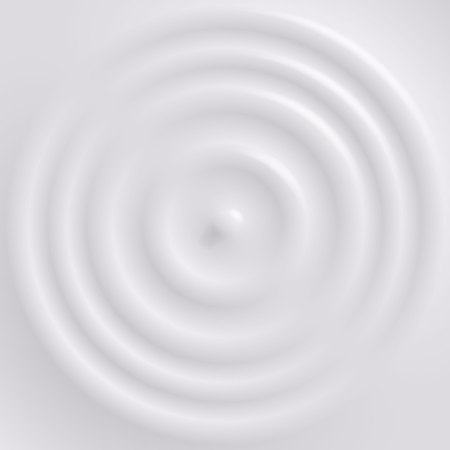 Drop falling on milk surface, top view. Vector background