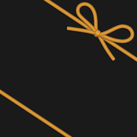 String bow with horizontal thin rope isolated