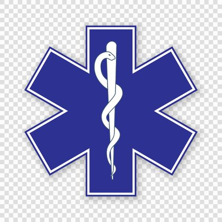 Medical symbol of the Emergency - Star of Life Vectores