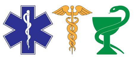 Medical symbol of the Emergency - Star of Life Illustration