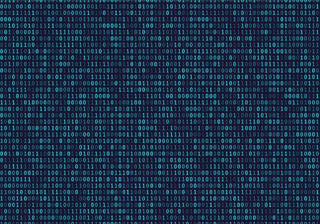 Streaming de fondo de código binario. patrón cibernético con números