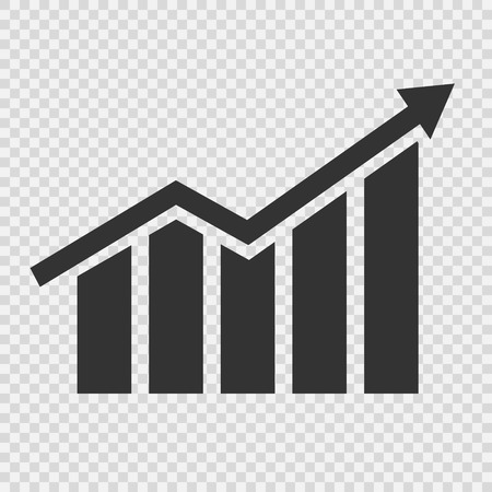 Growing graphic icon. Vector illustration Stock Illustratie