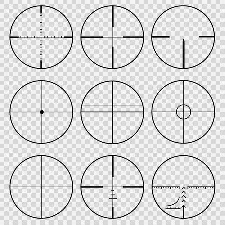 Set of telescopic sights Vector illustration Vetores
