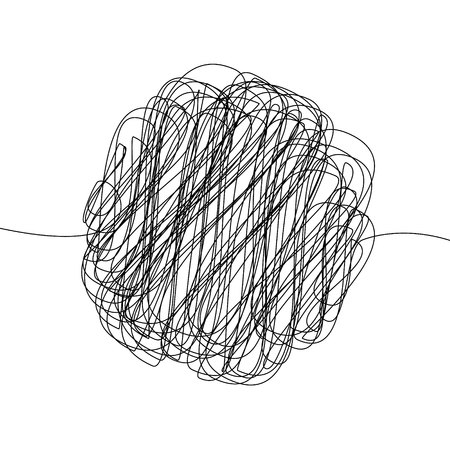 Abstract scribble, chaos doodle pattern. Hand drawn scrawl sketch