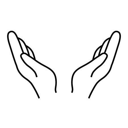 Help and protect Hand vector icon on white background