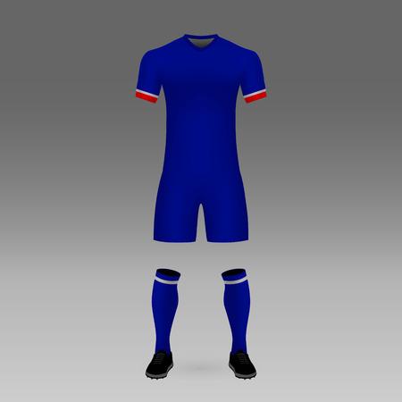 football kit Cruz Azul, shirt template for soccer jersey. Vector illustration Vector Illustration