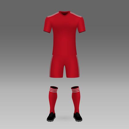 football kit Aberdeen, shirt template for soccer jersey. Vector illustration
