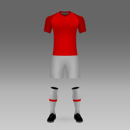 football kit Inernacional Porto Alegre, shirt template for soccer jersey. Vector illustration
