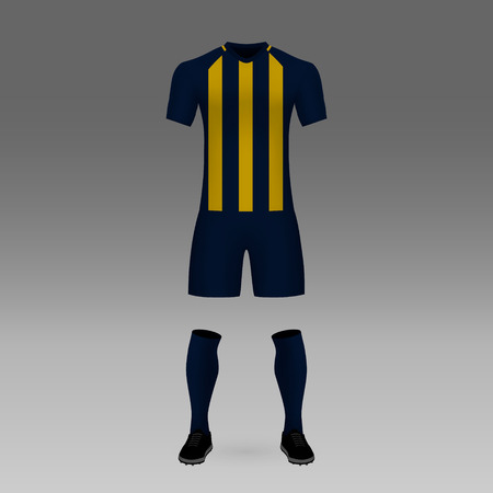 football kit Rosario Central, shirt template for soccer jersey. Vector illustration