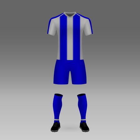 football kit Porto, shirt template for soccer jersey. Vector illustration