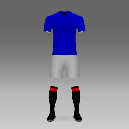 football kit Rangers, shirt template for soccer jersey. Vector illustration Vetores