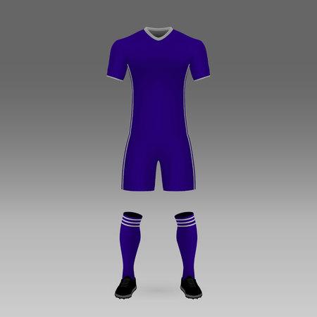 football kit Anderlecht, shirt template for soccer jersey. Vector illustration Ilustracja