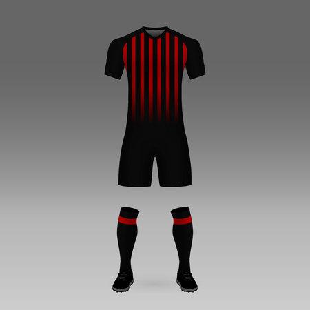 football kit Atletico Paranaense, shirt template for soccer jersey. Vector illustration