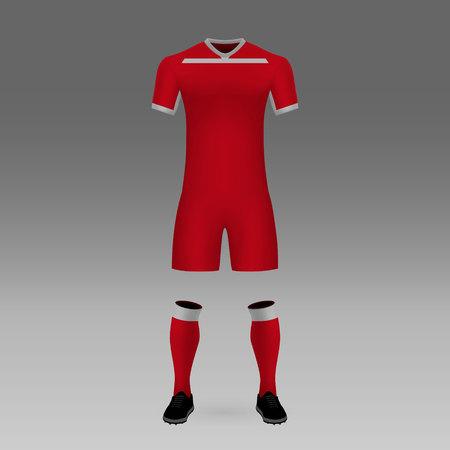 football kit Toluca, shirt template for soccer jersey. Vector illustration