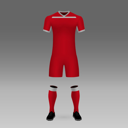football kit Toluca, shirt template for soccer jersey. Vector illustration