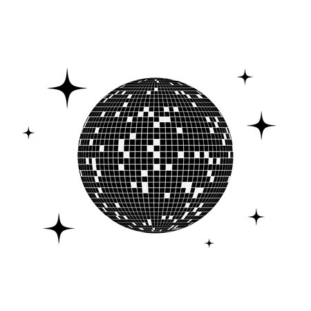 Disco ball icon. Vector illustration