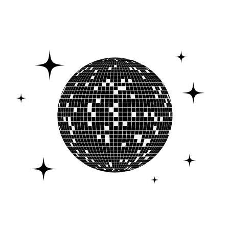 Disco ball icon. Vector illustration