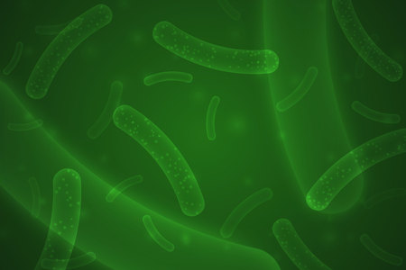 Micro probiotic bacteria. biological background