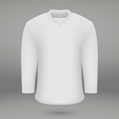 shirt template for ice hoskey jersey. Vector illustration 向量圖像