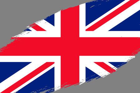 Brush stroke background with Grunge styled flag of United Kingdom Ilustrace