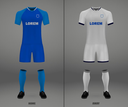 football kit, shirt template for soccer jersey. Vector illustration