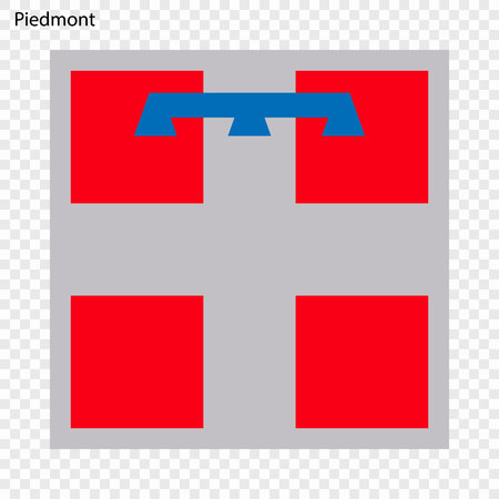 Emblem of Piedmont, province of Italy. Vector illustration