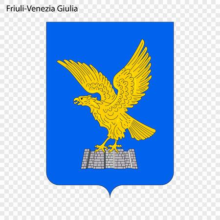 Emblem of Friuli-Venezia Giulia, province of Italy. Vector illustration