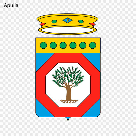 Emblem of Apulia, province of Italy. Vector illustration Ilustrace