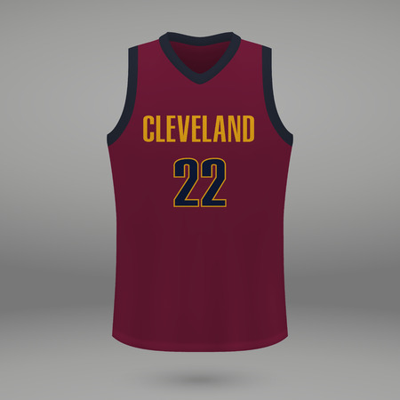 1431f29e Realistic sport shirt Cleveland Cavaliers, jersey template for basketball  kit. Vector illustration Stock Vector