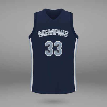 Realistic sport shirt Memphis Grizzlies, jersey template for basketball kit. Vector illustration