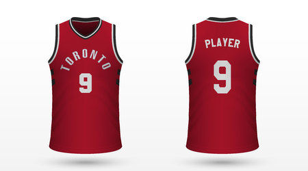 Realistic sport shirt Toronto Raptors, jersey template for basketball kit. Vector illustration