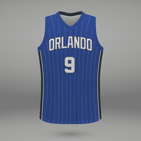 Realistic sport shirt Orlando Magic, jersey template for basketball kit. Vector illustration