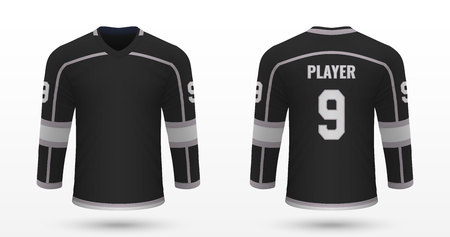 Realistic sport shirt Los Angeles Kings, jersey template for ice hockey kit. Vector illustration
