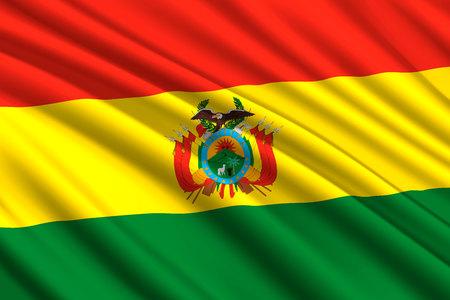 waving flag of Bolivia. Vector illustration
