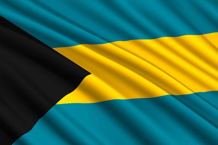 waving flag of Bahamas. Vector illustration
