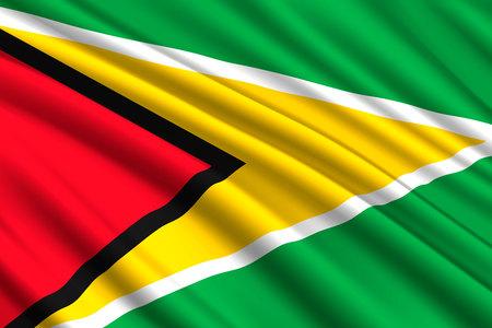 waving flag of Guyana. Vector illustration Illustration