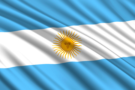 waving flag of Argentina. Vector illustration