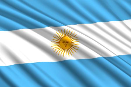 wehende Flagge von Argentinien. Vektor-Illustration Vektorgrafik