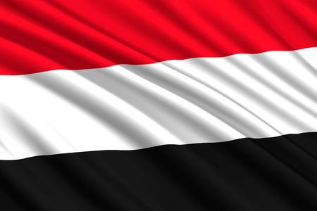 waving flag of Yemen. Vector illustration