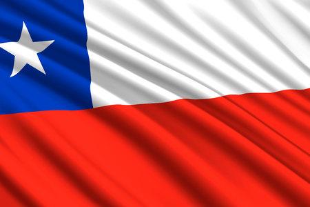 waving flag of Chile. Vector illustration